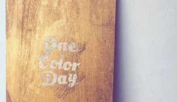 ONE COLOR DAY 2nd