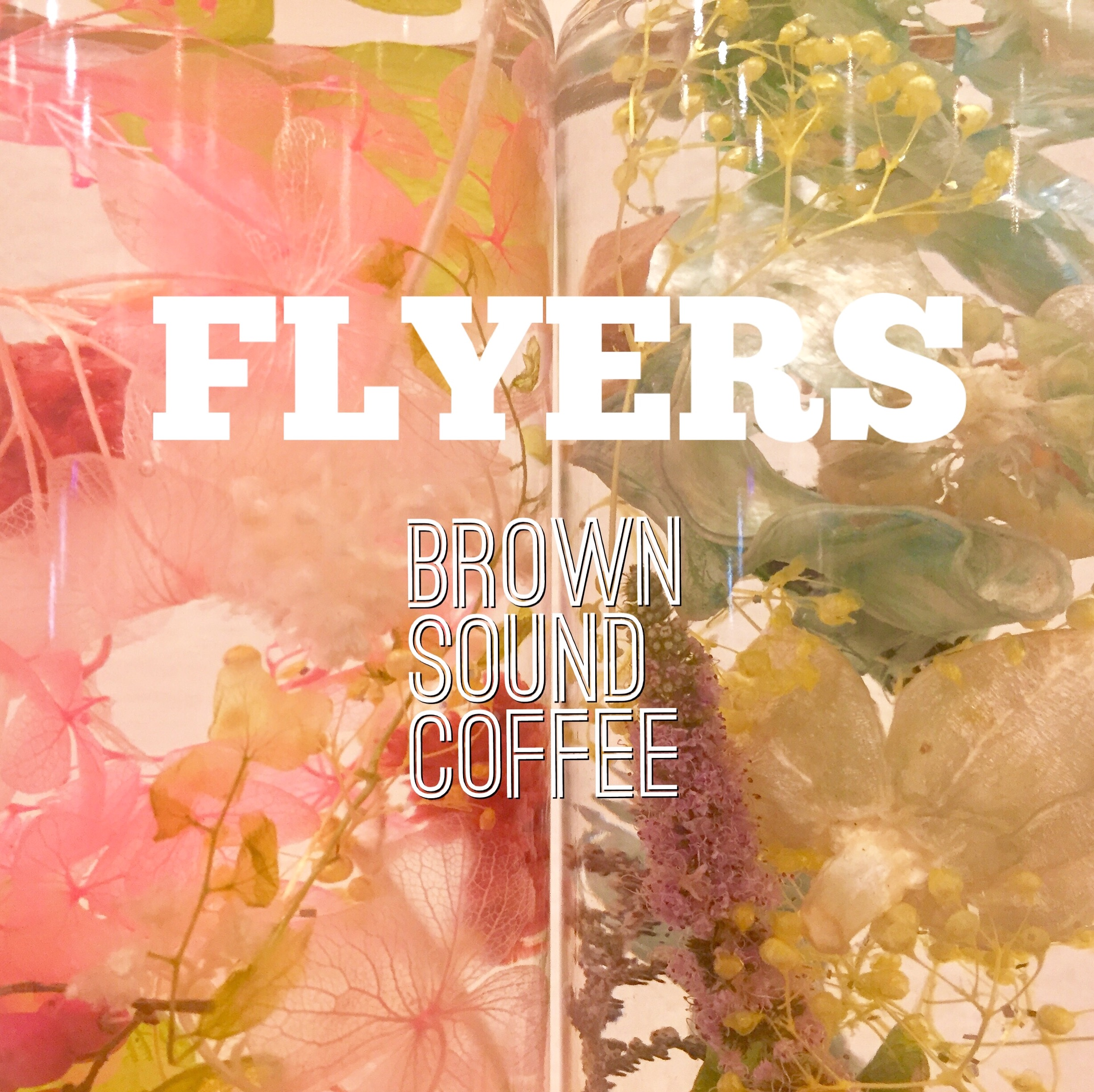 flyers work shop brown sound coffee